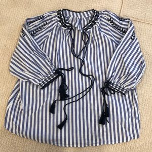 Tops - Navy and White Tunic